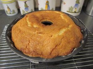pound cake baked
