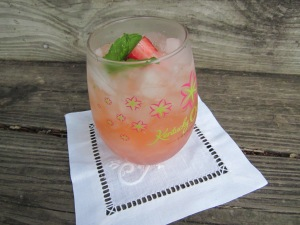 strawberry peach sparkler