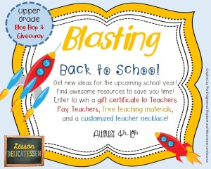 Blasting Back to School Blog Hop