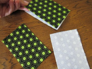 gift card pouch finished fabric pieces