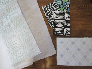 gift card pouch fusible web fabric