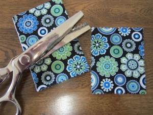 gift card pouch pinking shears