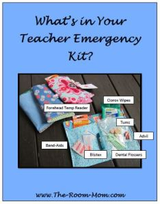 whats in your teacher emergency kit