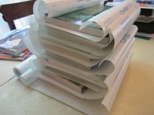 covering books contact paper prep