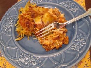 spaghetti pie bite