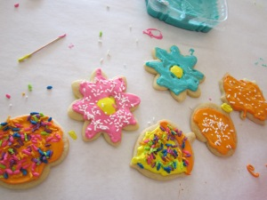cookie party finished cookies