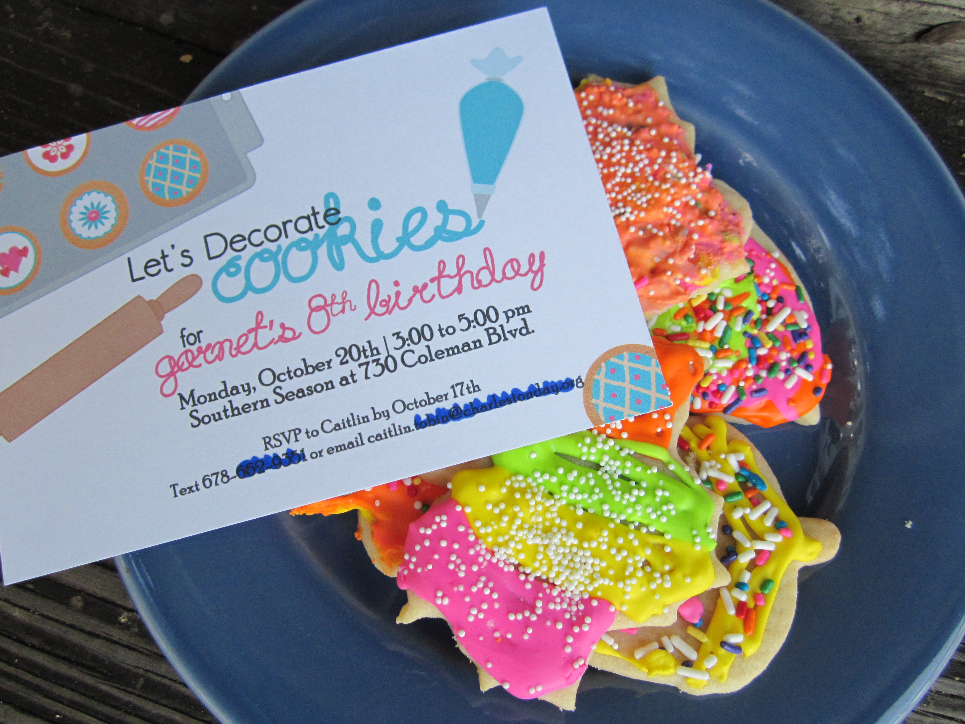 Cookie decorating party ideas - Cookie Party Invitation