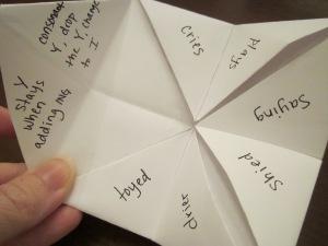 fortune teller spelling rules