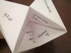 fortune teller vocab definition
