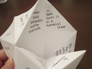 fortune teller vocab samples