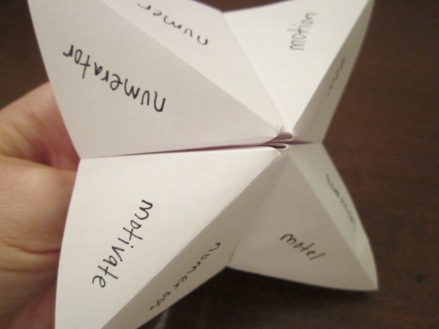 foldable fortune teller study tool for students