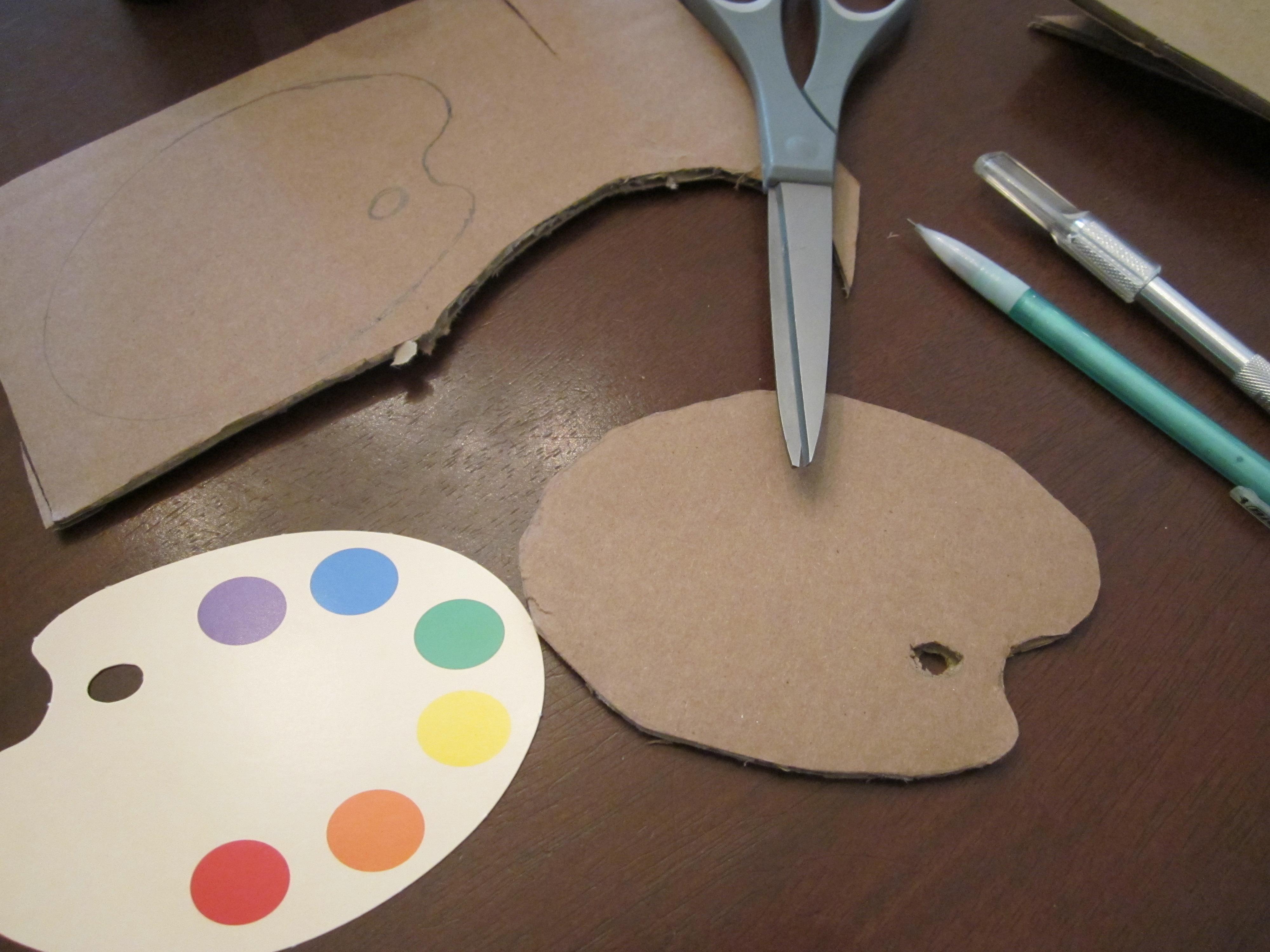 Art Gallery Paint Pallette Template
