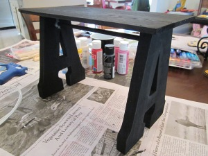 art gallery work table finished