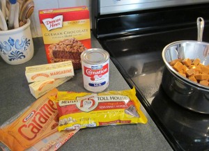 caramel brownies ingredients