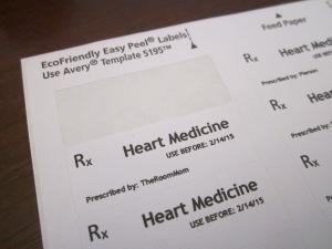 RX Valentine labels