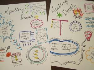 spelling doodle sample