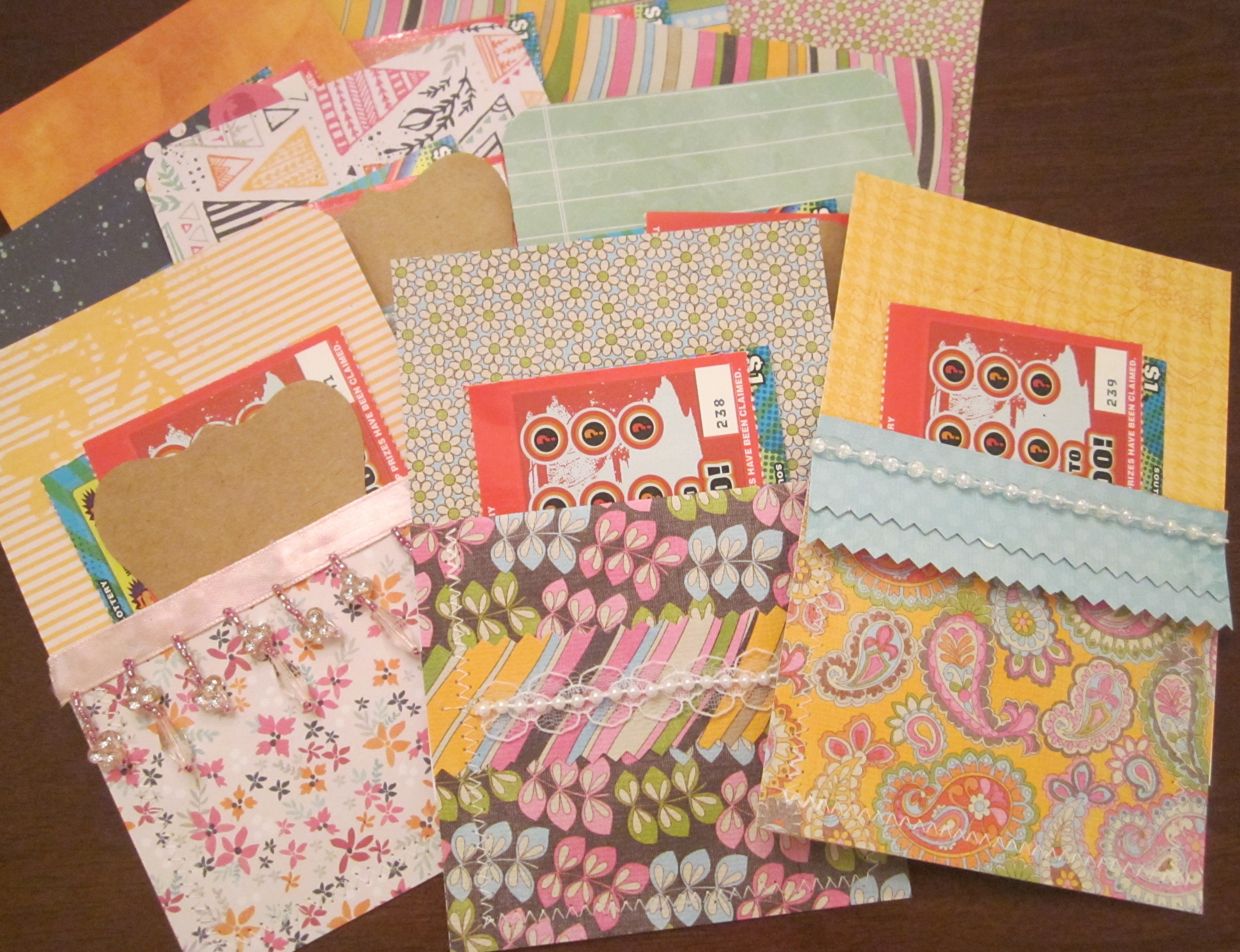 Scrapbook ideas for teachers - Paper Pockets Finished All