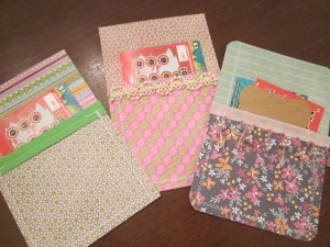 paper pockets finished set 4