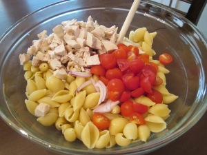 chicken caesar pasta salad ingredients