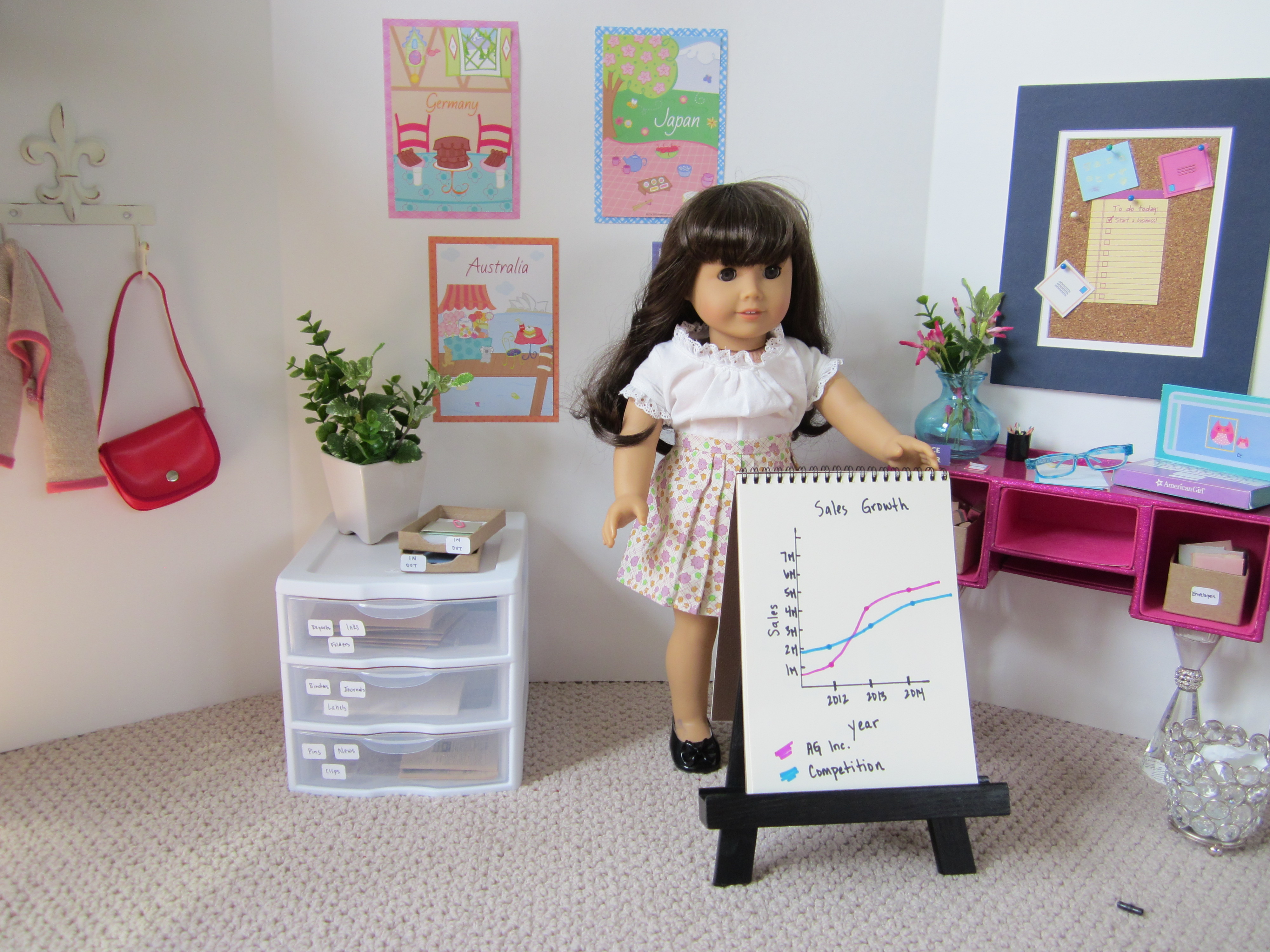 american girl goes to work theroommom. Black Bedroom Furniture Sets. Home Design Ideas