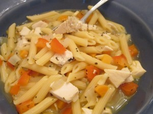 Italian chicken soup close