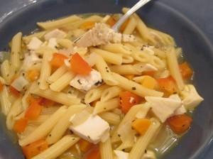 Italian chicken soup close