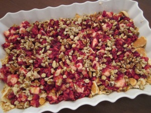 cranberry ice box dessert fruit and nuts layers