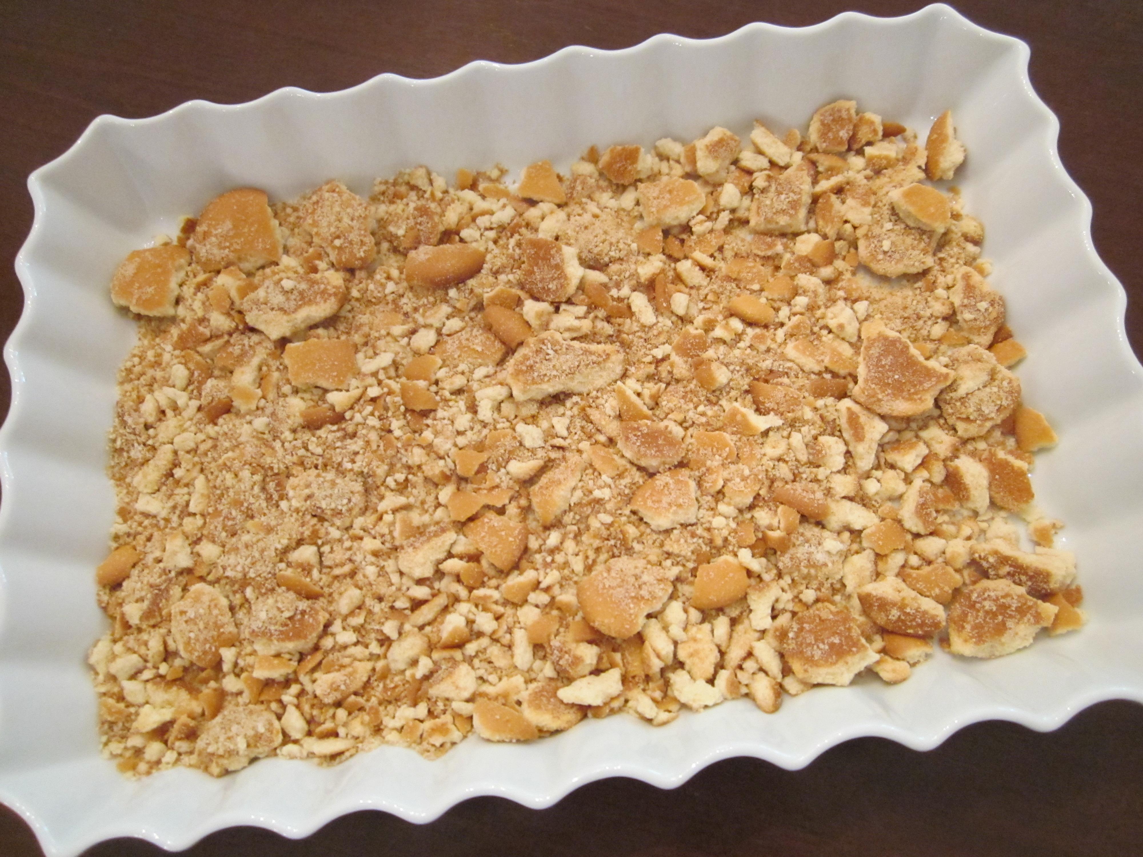 cranberry ice box dessert vanilla wafer bottom layer