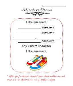 adjective poems