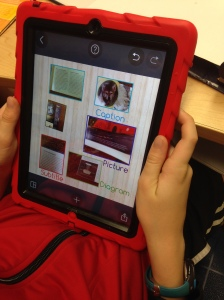 PicCollage magazine text features