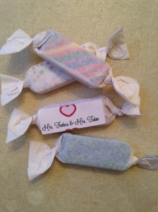 eraser valentines with label