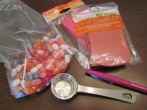 jelly bean envelopes materials