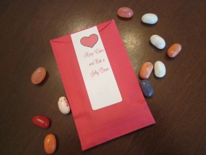 jelly bean envelopes with label