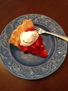 strawberry pie slice