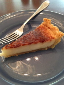 sugar and cream pie slice