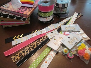 ribbon bookmark supplies