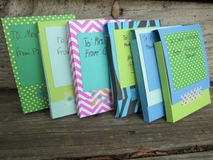 teacher gift card boxes finished
