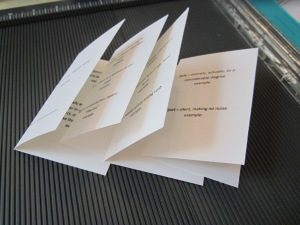 spelling mini books folded