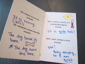 spelling mini books notes