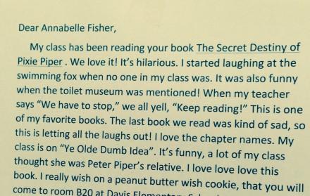 annabelle fisher letter