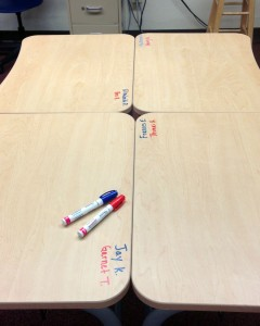Sharpie Paint Pen name tags on desks teacher hack #teachertip