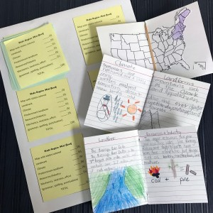 state region foldable mini book
