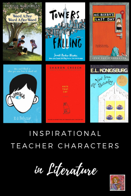 Inspirational Teacher Characters book list in children's literature
