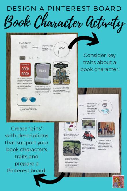 Pinterest Writing Activity for social studies or novel studies
