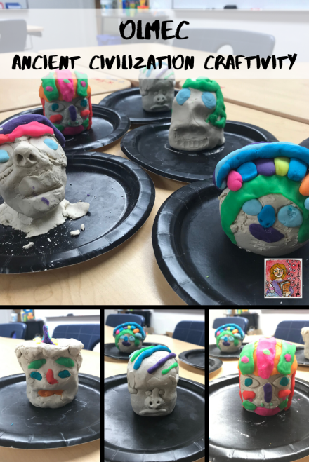 Olmec Big Head Statues Activity